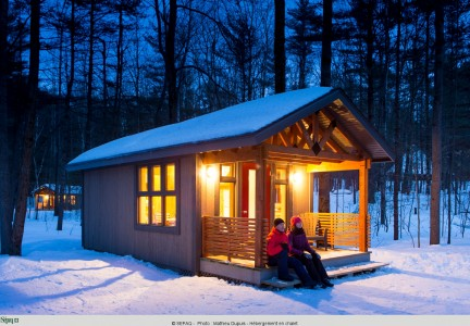 Chalet Compact, parc national d'Oka. | photos Sépaq